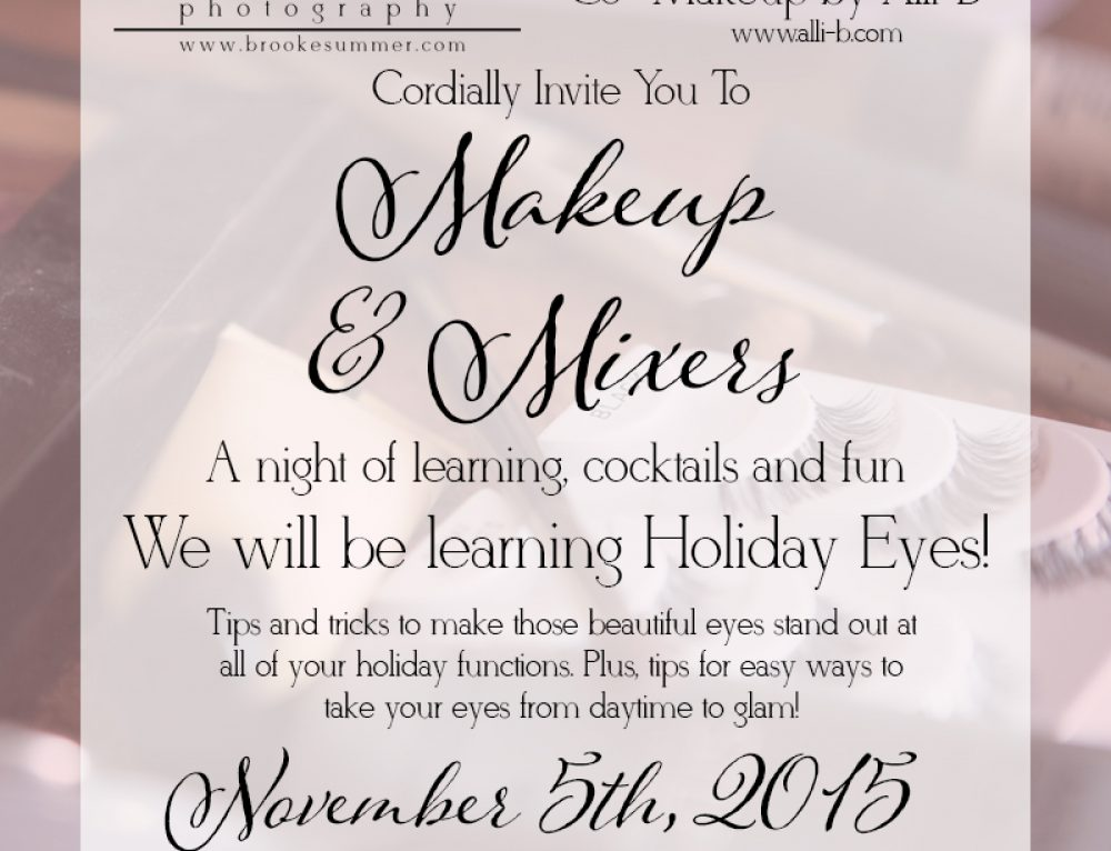 Denver Boudoir Photographer – Makeup & Mixers Workshop – Holiday Eyes