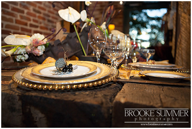 denver-wedding-photographer, colorado-wedding-photographer, denver-wedding-photography, colorado-wedding-photography, industrial-elegance, rusted-parts-weddings, wedding-inspiration, eclectic-wedding-showcase, rusted-hydrangea, gold-place-setting, superior-events, bella-calla