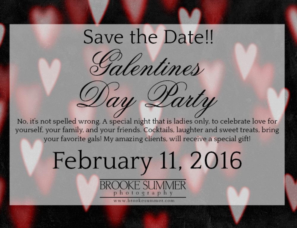 Denver Women's Photographer – GALentine's Day Party SAVE THE DATE